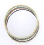 Multiple Textured Sterling Silver Bangle Bracelet in 5 Colors