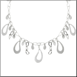 "15.5"" 925 Sterling Silver Tear Drop Necklace"