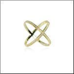 "Gold Vermeil and CZ ""X"" Ring"