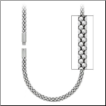 "18"" Inox 5mm Stainless Steel Raspberry (Popcorn) Chain"