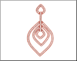 Rose Gold Vermeil and CZ  Tear Drop Shaped Pendant