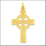 24K Gold Vermeil Celtic Cross Pendant