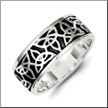 Antiqued Solid Sterling Silver Celtic Ring