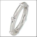 Rhodium Stackable, Wedding, Pinky CZ Ring