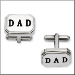 "Stainless Steel ""DAD"" Cuff Links"