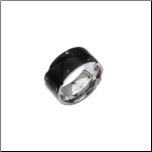 12mm Inox Ip Black Stainless Steel Ring with Exposed Screw Heads