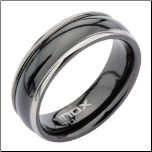 6mm Inox Ip Black Titanium Wedding Band