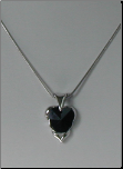 Black Cz William Wang Design Pendant & Chain in Platinum Finish