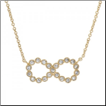 "16"" +2"" Gold Vermeil and CZ Infinity Necklace"