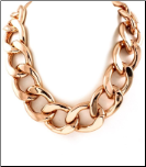 "16+3"" Rose Gold Plated Chunky 1"" Link Necklace"