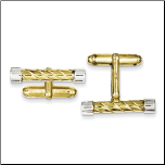 Sterling Silver and Gold Vermeil Bar Cufflinks