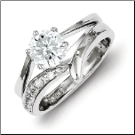 Sterling Silver and CZ Wedding Set