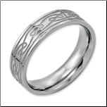 6mm Stainless Steel Unisex Celtic Knot Ring