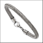 "8"" Chisel Unisex Stainless Steel Braided Wire Bracelet"