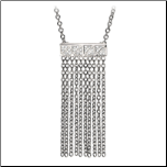 "16+2"" Inox Stainless Steel and CZ Fringe Necklace"